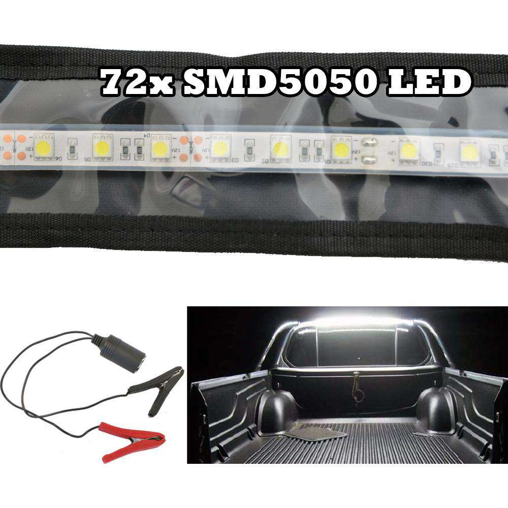 LED FLEXIBLE CAMPING STRIP LIGHT 5050 SMD CARAVAN BOAT WATERPROOF BAR 12V 1.3M