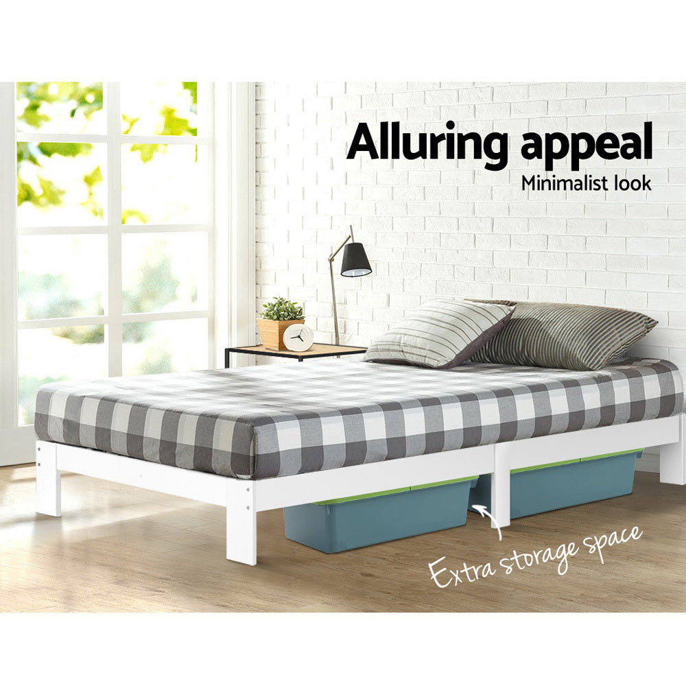 Artiss King Single Size Wooden Bed Frame - JADE