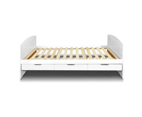 Artiss Single Wooden Trundle Bed Frame Timber Kids Adults