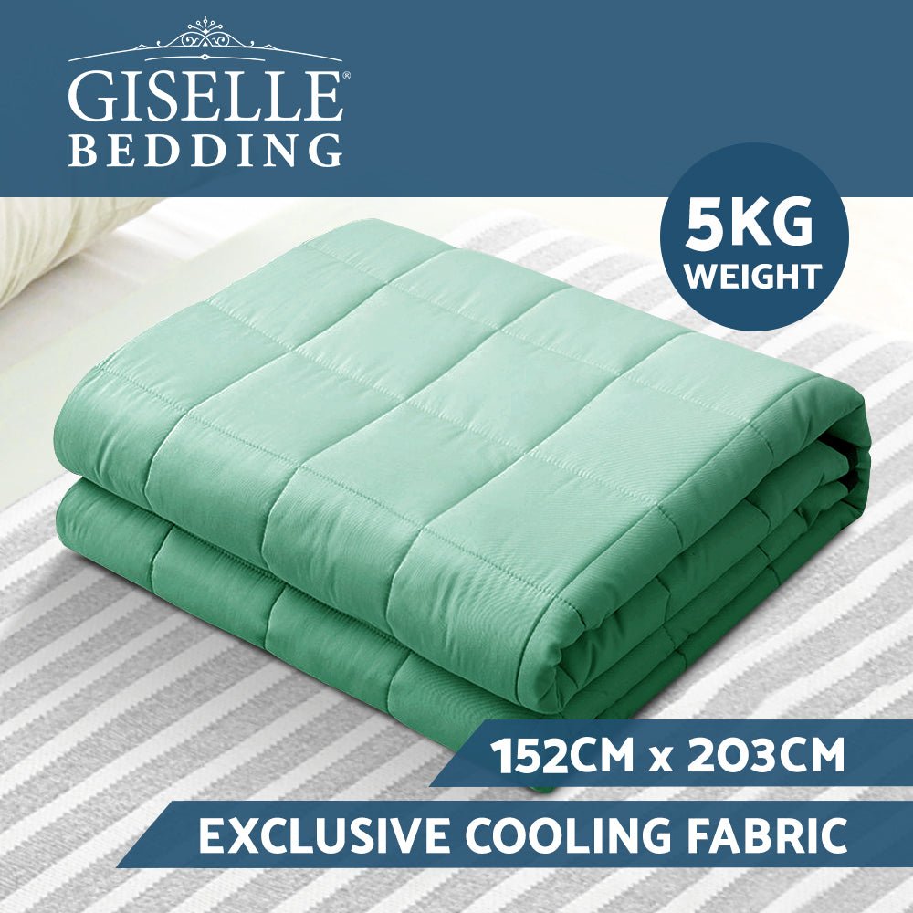 Giselle Weighted Blanket Adult 5KG Aqua
