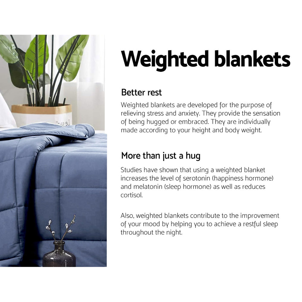 Giselle Weighted Blanket Adult 5KG Blue