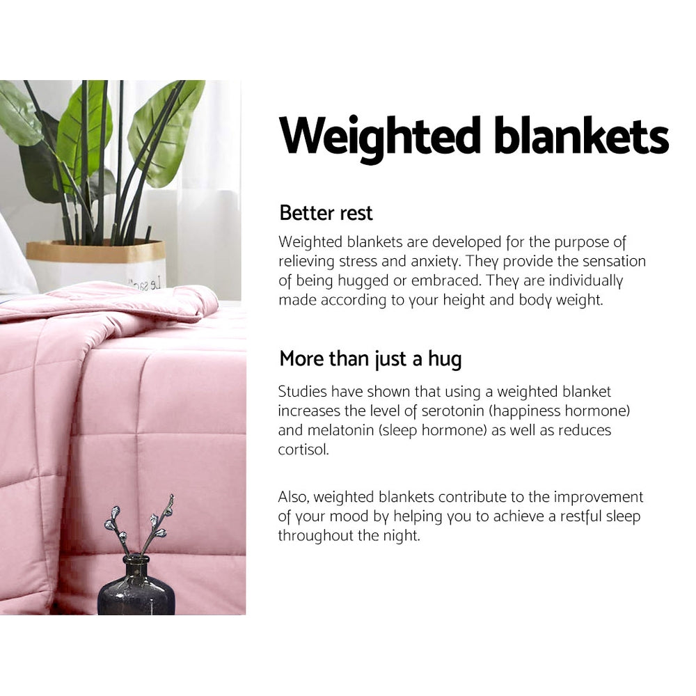 Giselle Weighted Blanket Adult 5KG Pink