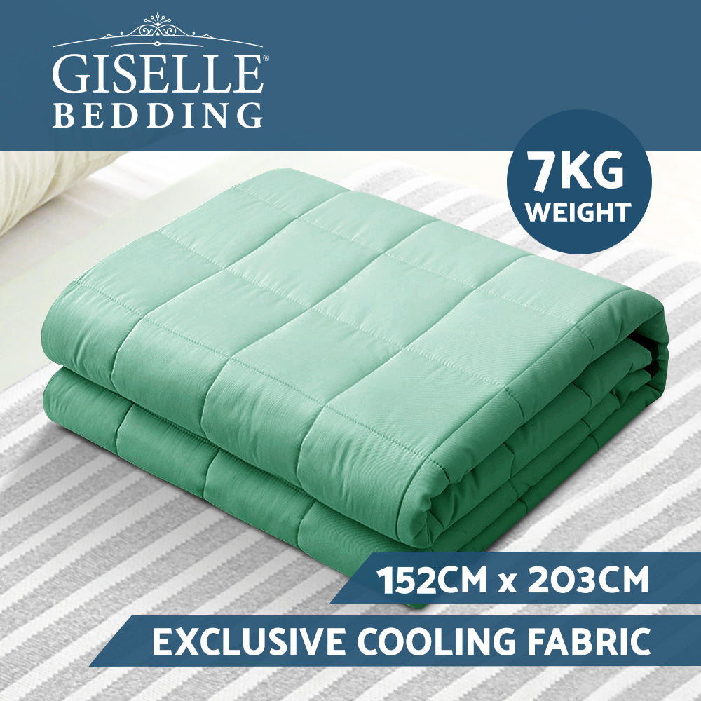 Giselle Weighted Blanket Adult 7KG Gravity Cooling Blanket Aqua