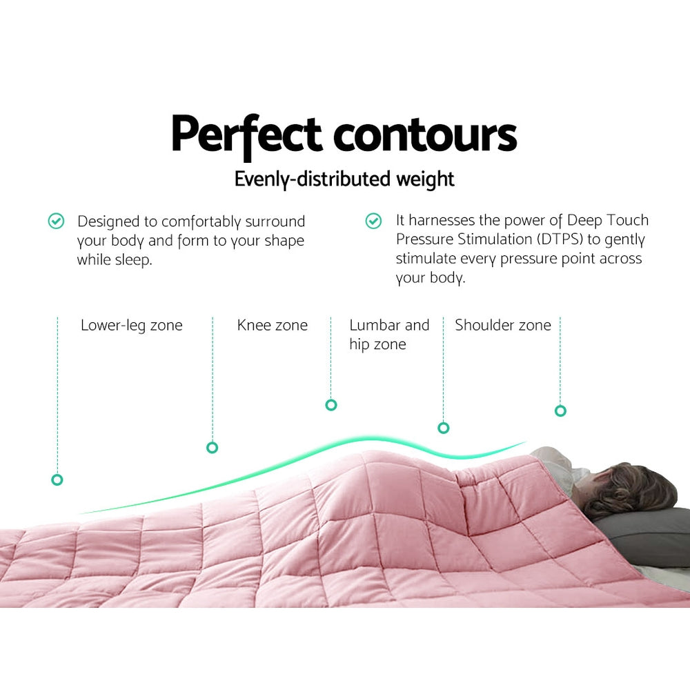 Giselle Cooling Weighted Blanket Adult 7KG Pink