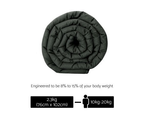 Giselle Bedding 2.3kg Cotton Weighted Blanket Black