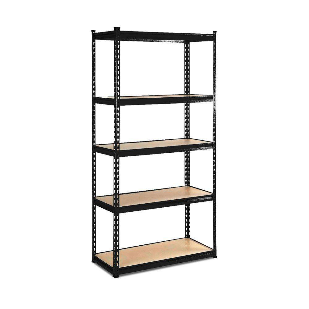 5-Tier Shelving Unit Warehouse Rack Storage Racking Garage Shelf  - Black