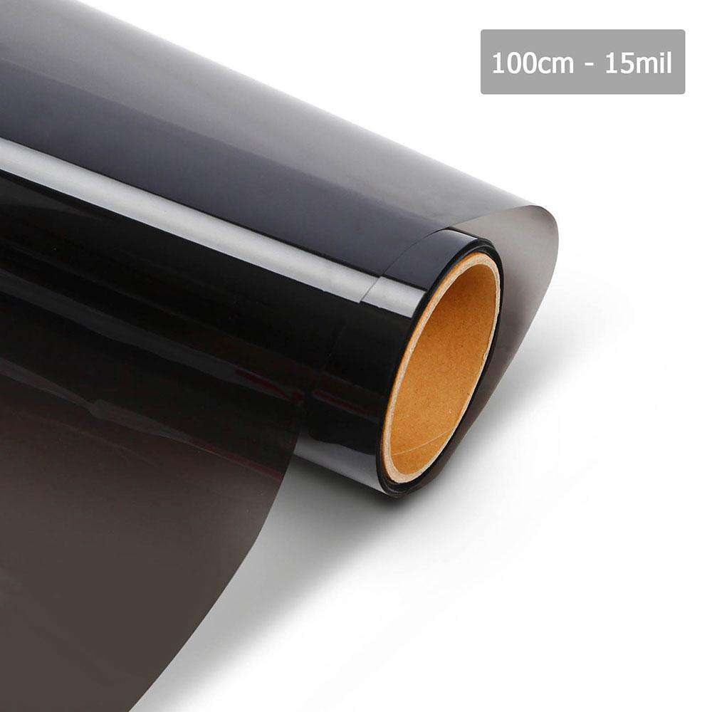 Giantz Window Tint Film Black Commercial Car Auto House Glass 100cm*30m VLT 15%
