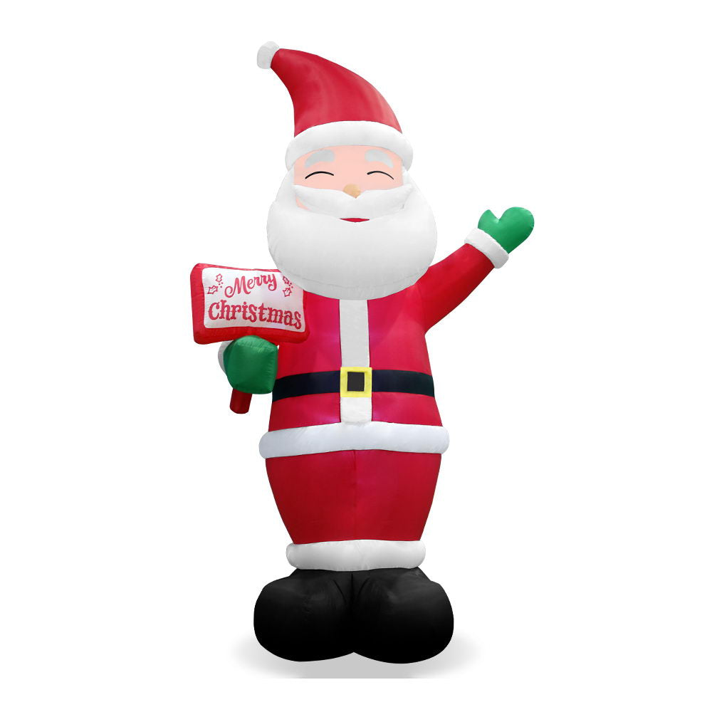Jingle Jollys 3.6M Christmas Inflatable Greeting Santa Xmas Decor LED Airpower
