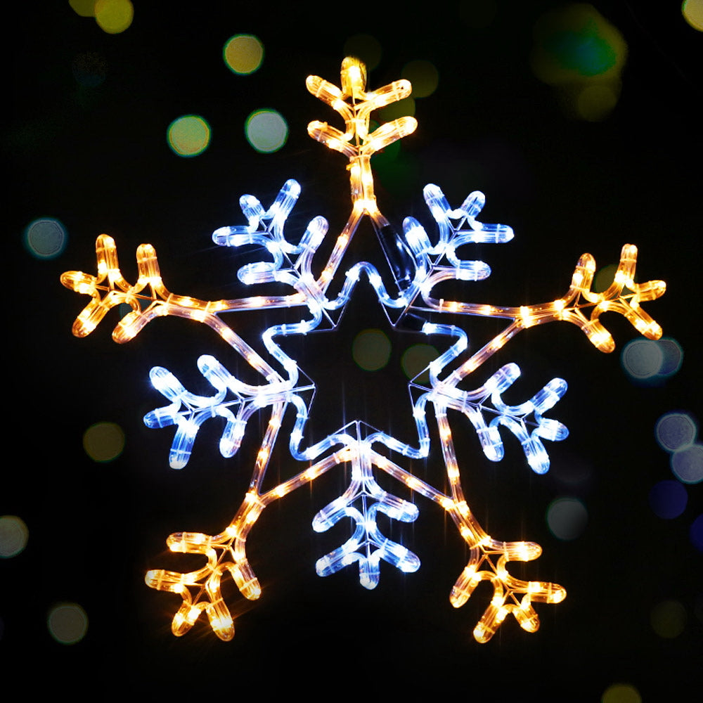 Jingle Jollys Christmas LED Motif Lights Rope Snowflake