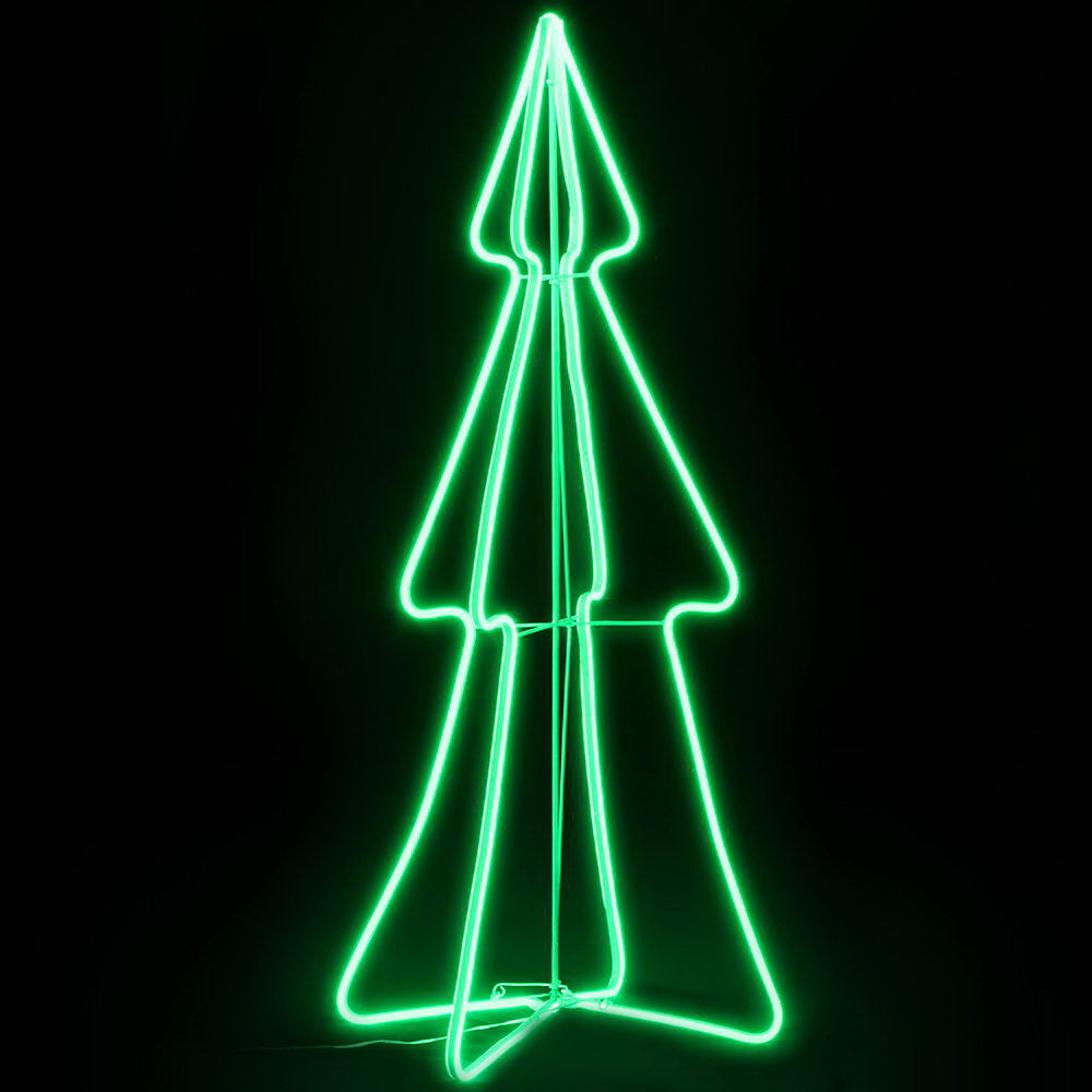 Jingle Jollys Christmas LED Motif Light 1.2M Tree Waterproof Colourful
