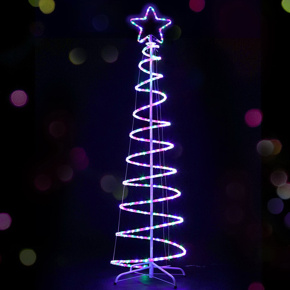 Jingle Jollys Christmas LED Motif Light 1.88M Tree Waterproof Colourful