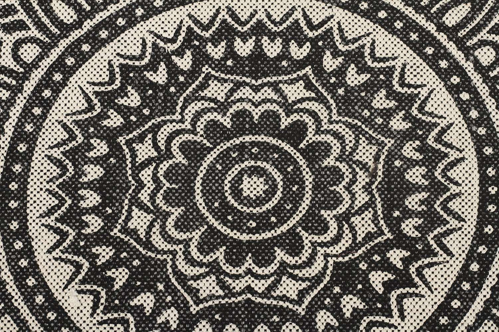 Zulu Totemic Kin Black Rug