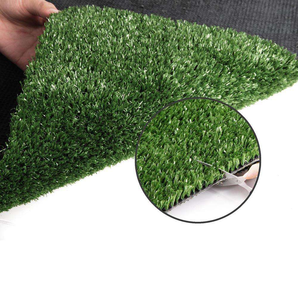 Artificial Grass 20 SQM Polypropylene Lawn Flooring 1X20M Olive Green - Desirable Home Living