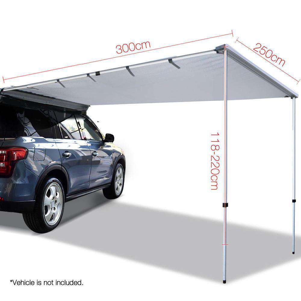 2.5X3M Car Awning  - Grey - Desirable Home Living