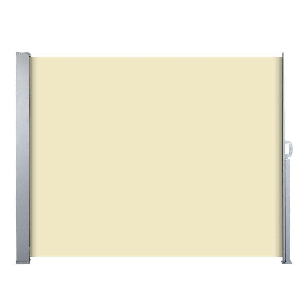 Retractable Side Awning Shade 180cm Beige - Desirable Home Living