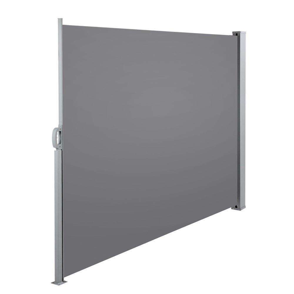 Retractable Side Awning Shade 180cm Grey