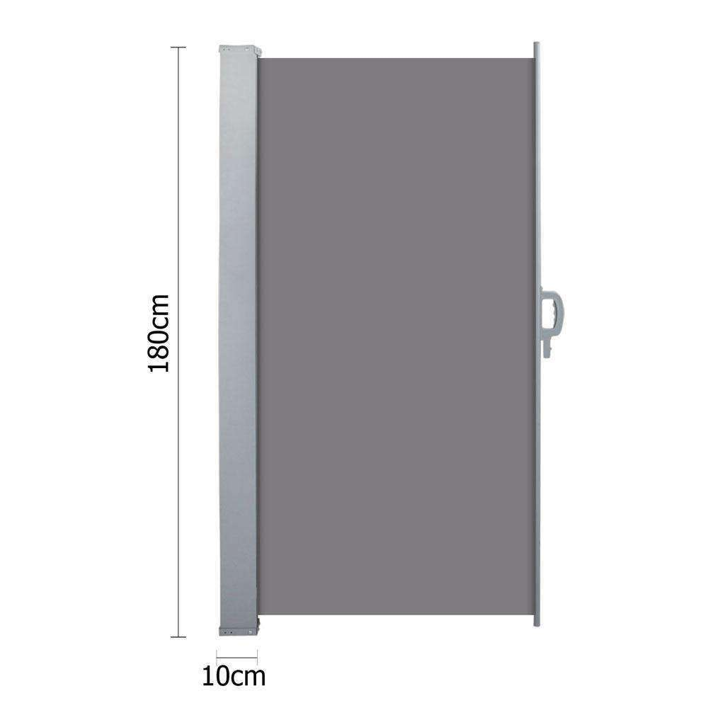 Retractable Side Awning Shade 180cm Grey - Desirable Home Living