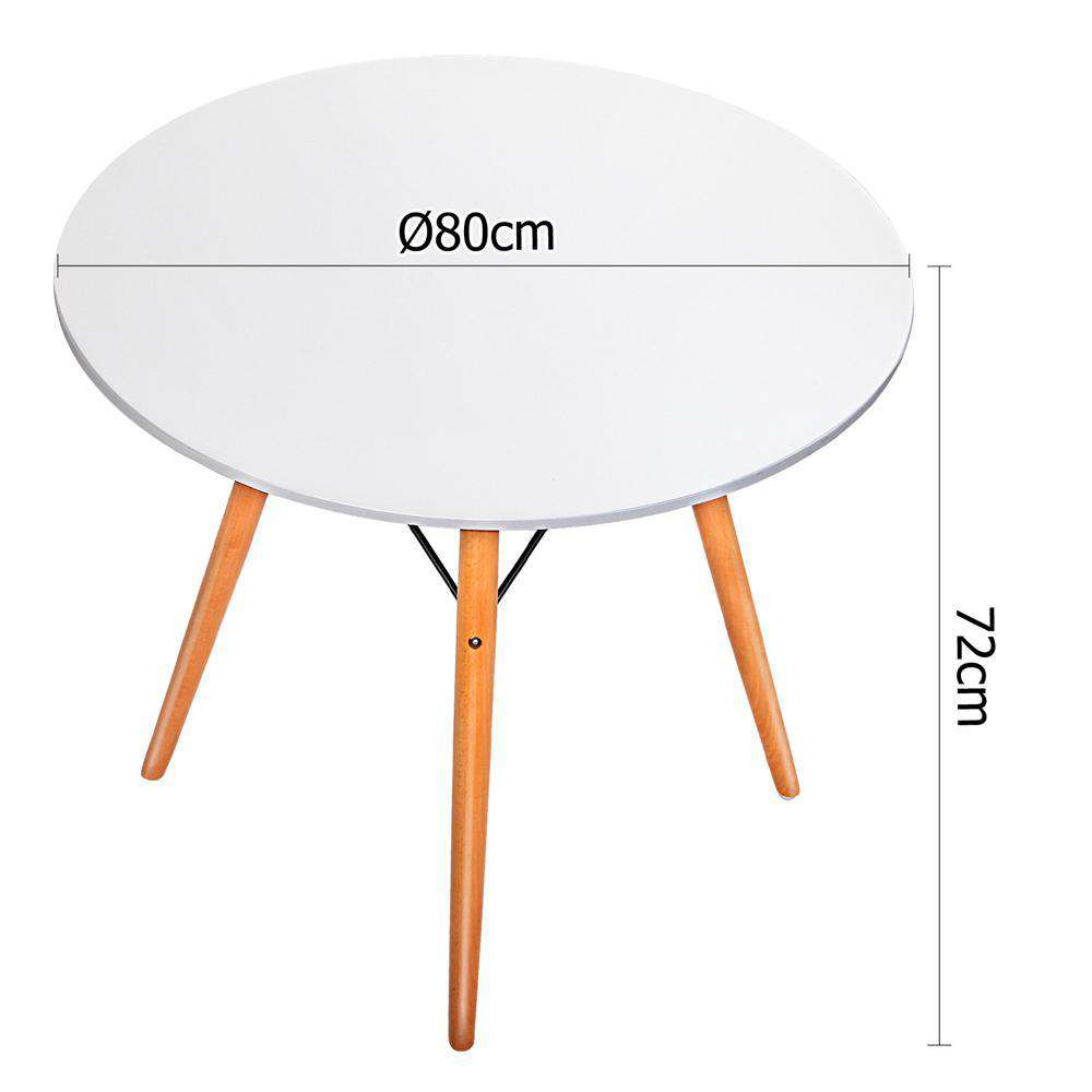 Replica Eames DSW Eiffel Dining Table White - Desirable Home Living