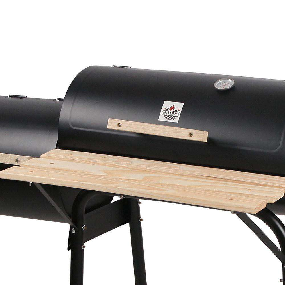 2-in-1 Offset BBQ Smoker - Desirable Home Living