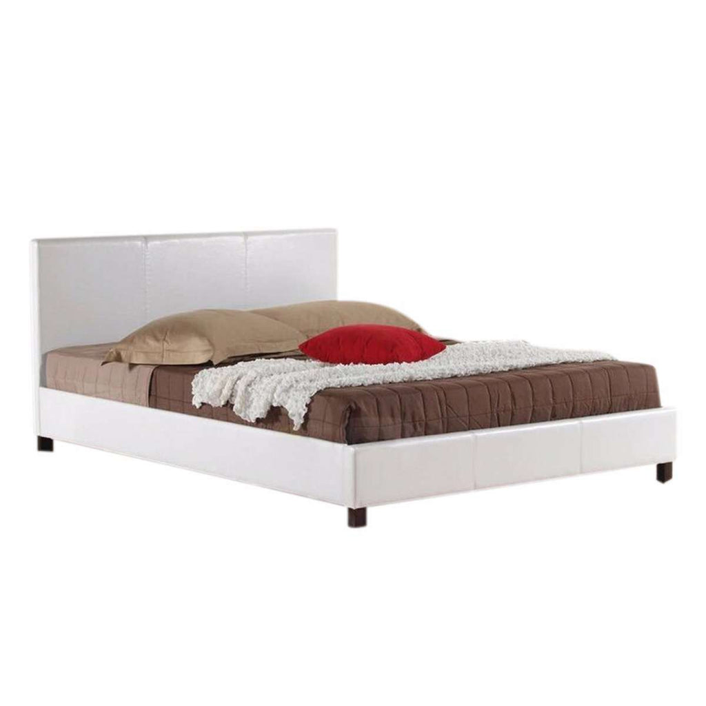 Mondeo PU Leather Queen White Bed - Desirable Home Living