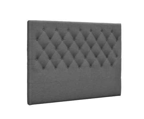 Artiss Queen Size Upholstered Fabric Head Board - Grey