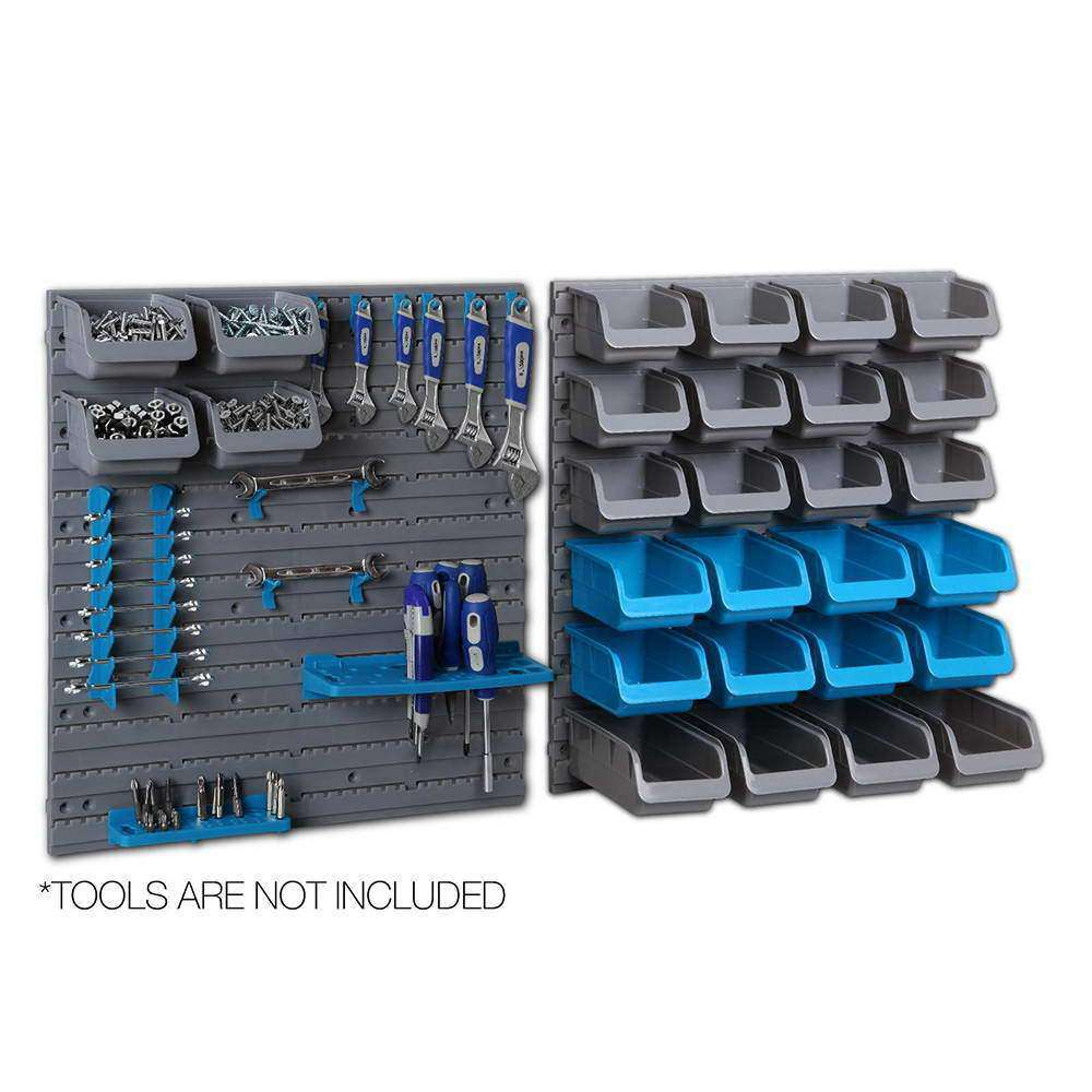 44 Piece Bin Wall Mounted Storage Rack