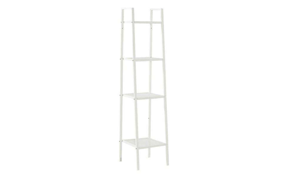 4 Tier Home Storage Ladder Shelf Bookshelf 35CM Width White Colour