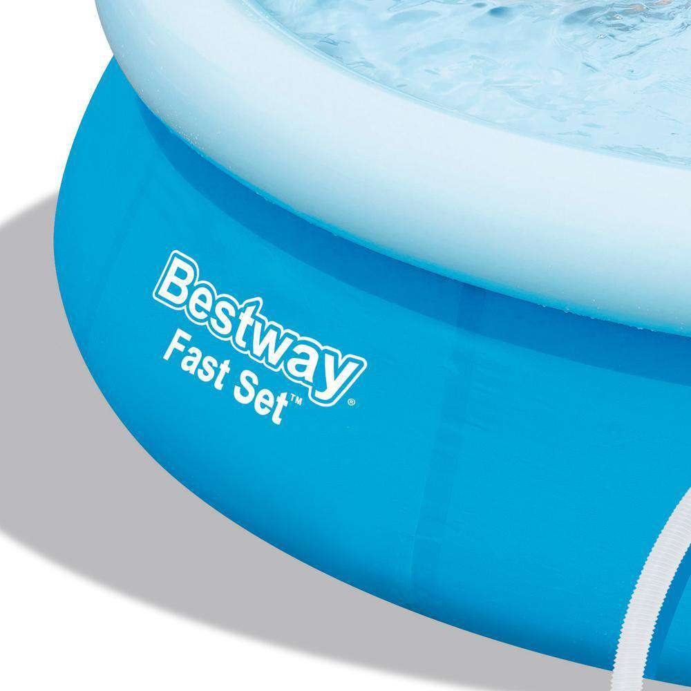 Bestway Above Ground Fast Set Swimming Pool Blue - Desirable Home Living