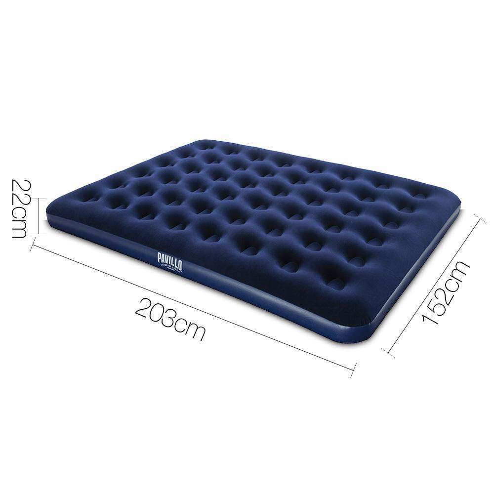 Bestway Double Inflatable Bed with Carry Bag - Navy - Desirable Home Living