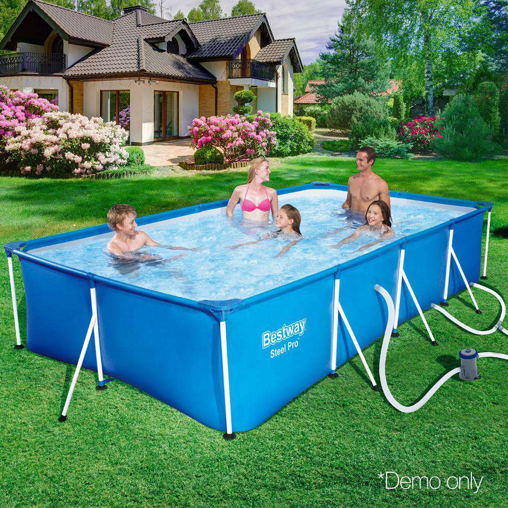 Bestway Rectangular Steel Frame Above Ground Swimming Pool