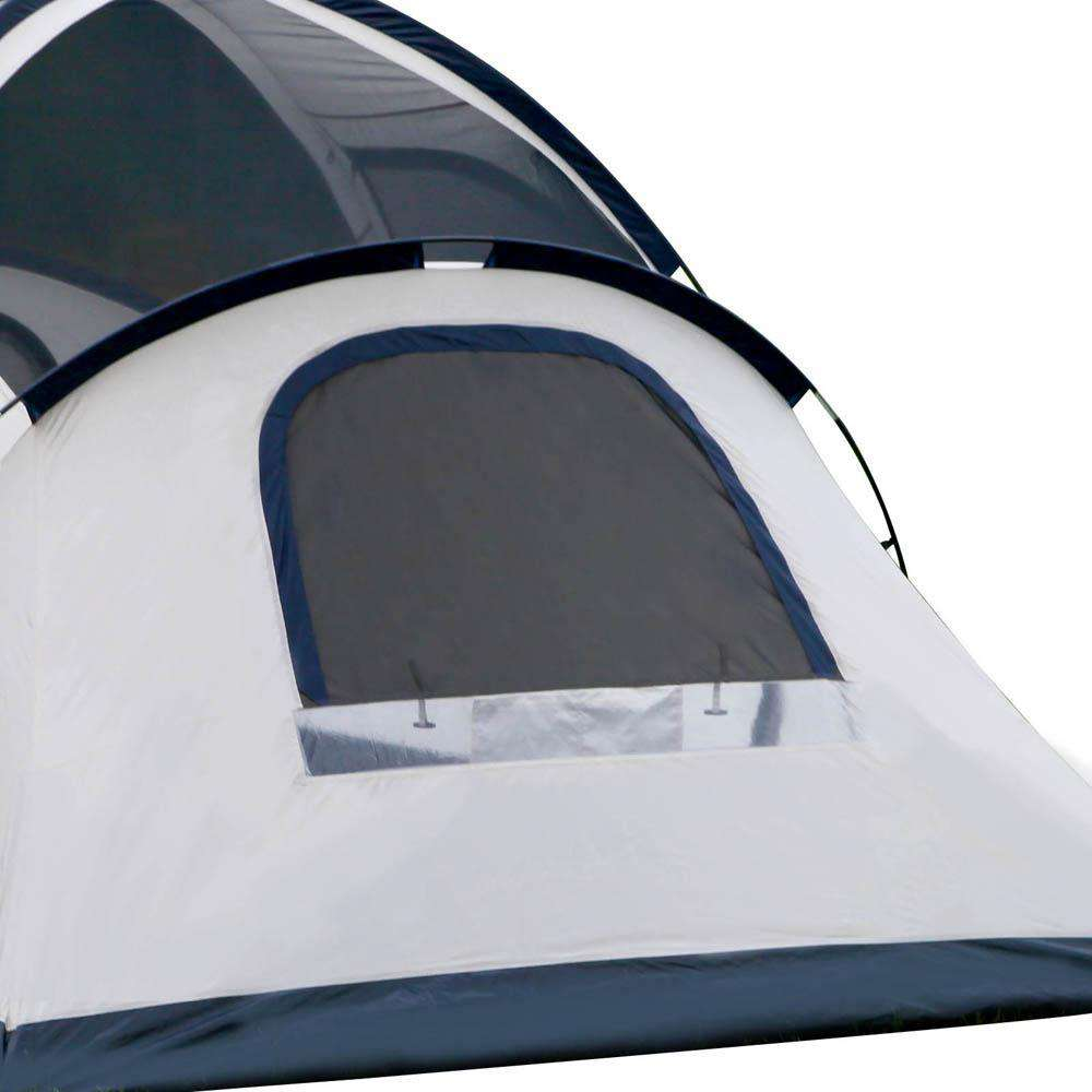 6 Person Family Camping Tent Navy Grey - Desirable Home Living