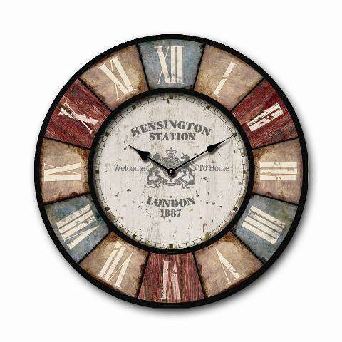 Roman Numerals 20'' Timber Wall Clock