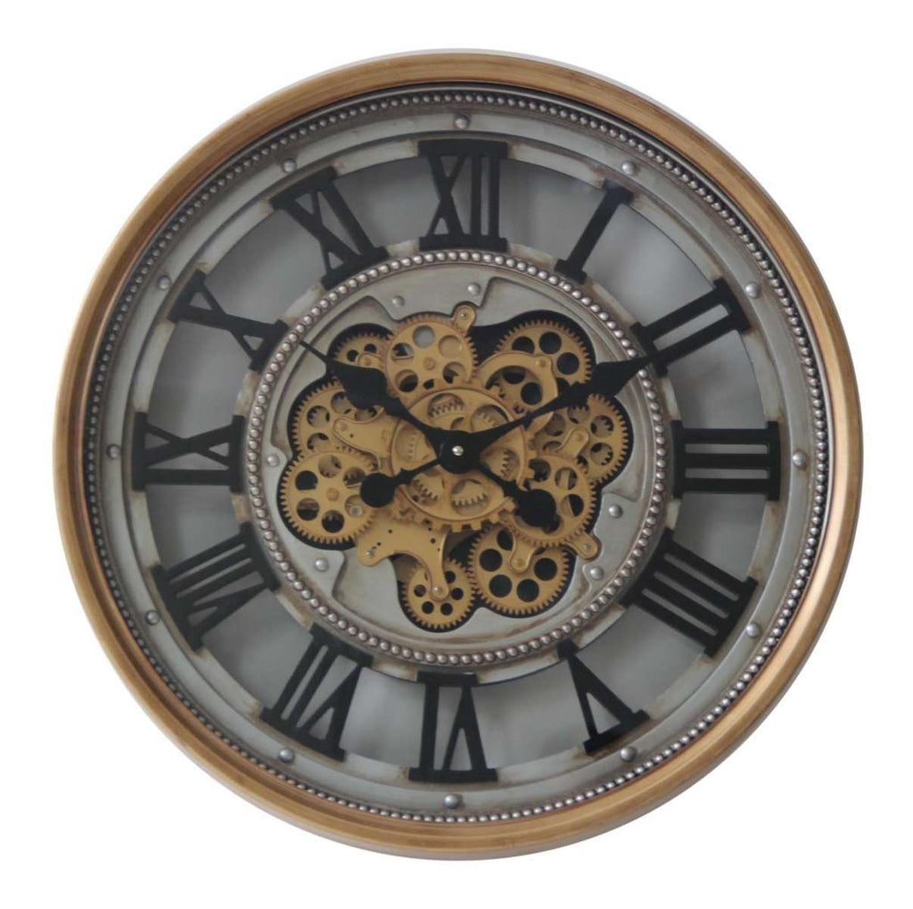 Luxurious Round Rotary Gears Metal Wall Clock