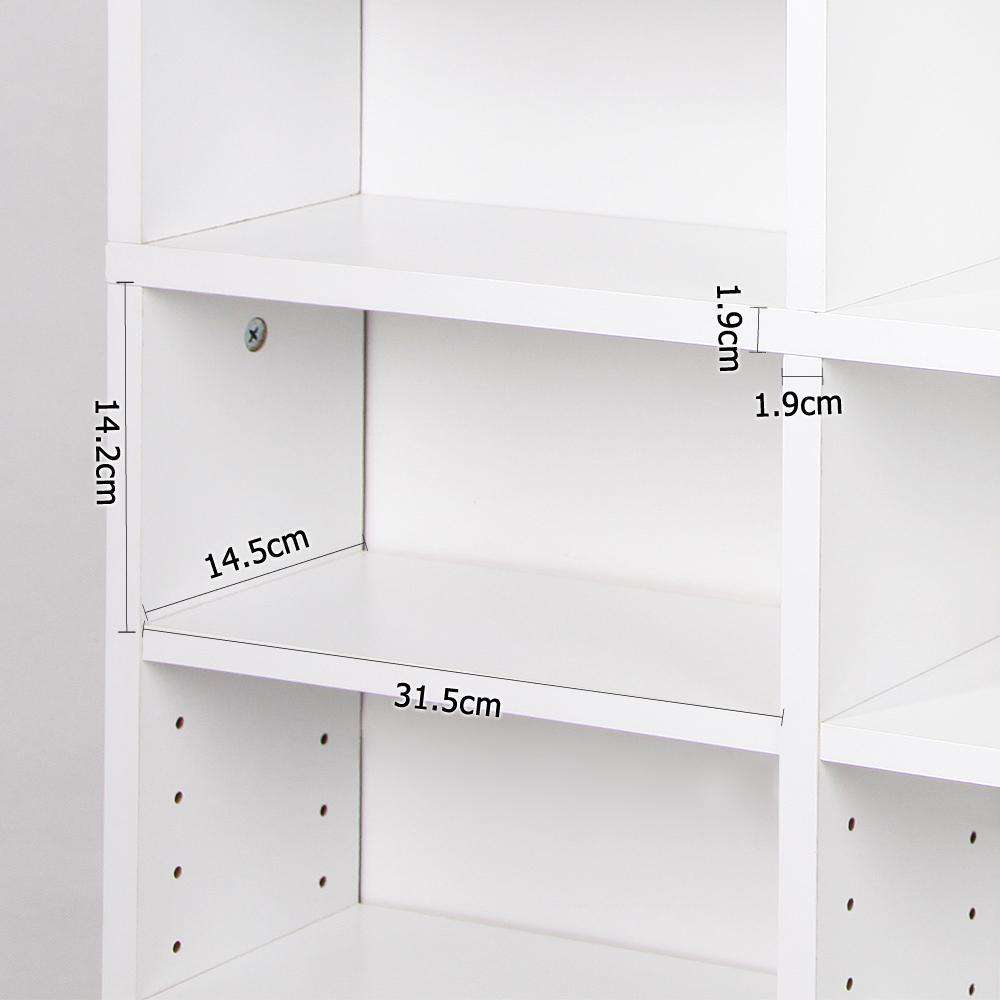 Artiss Adjustable Book Storage Shelf Rack Unit - White