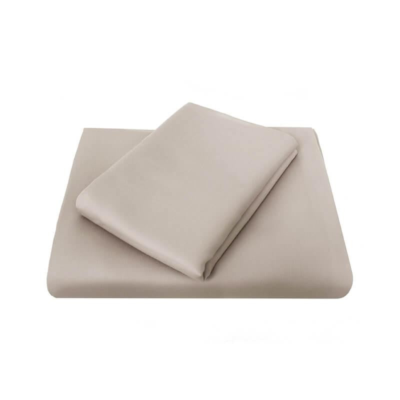 Chateau King Single Fitted Sheet sandshell by Bambury