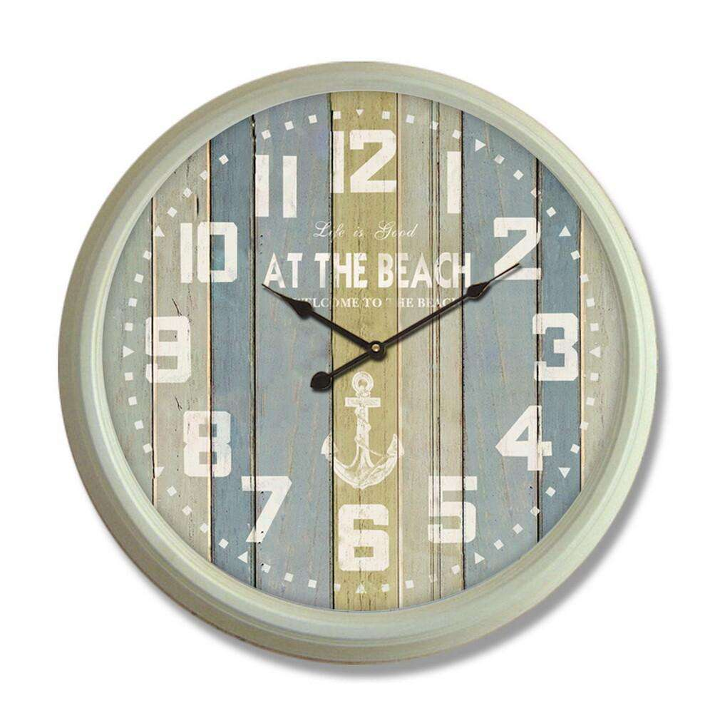 Classical 24'' Big Metal Clock (White Frame)