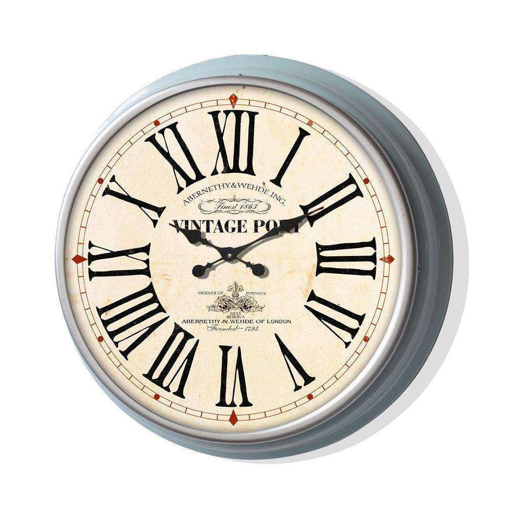 Classic 13'' Metal Wall Clock(Blue Frame)
