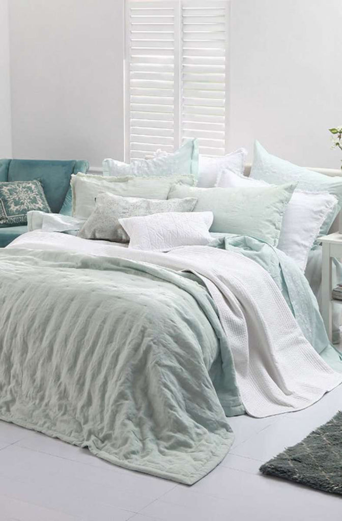 Claudette White Large 100% Cotton Comforter Set by MM Linen