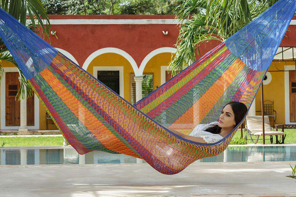 Jumbo Cotton Hammock in Mexicana