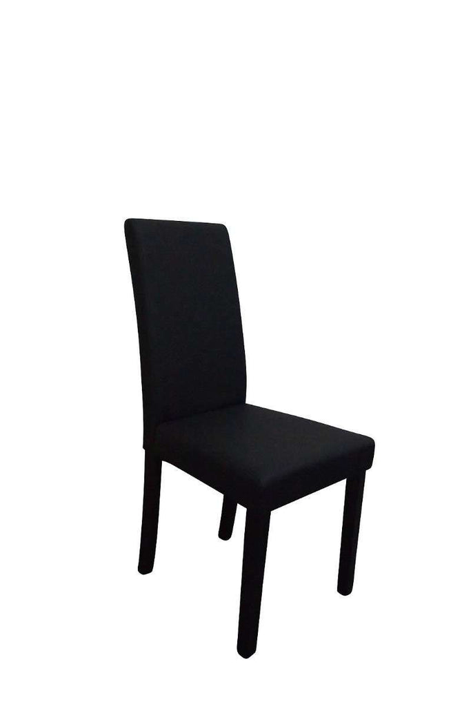 Parsons Highback Black Faux Leather Dining Chair Set of 2