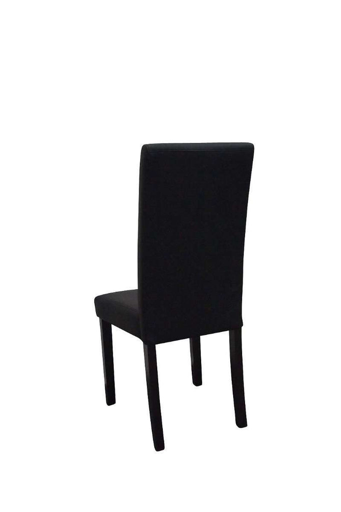 Parsons Highback Black Faux Leather Dining Chair Set of 2 - Desirable Home Living