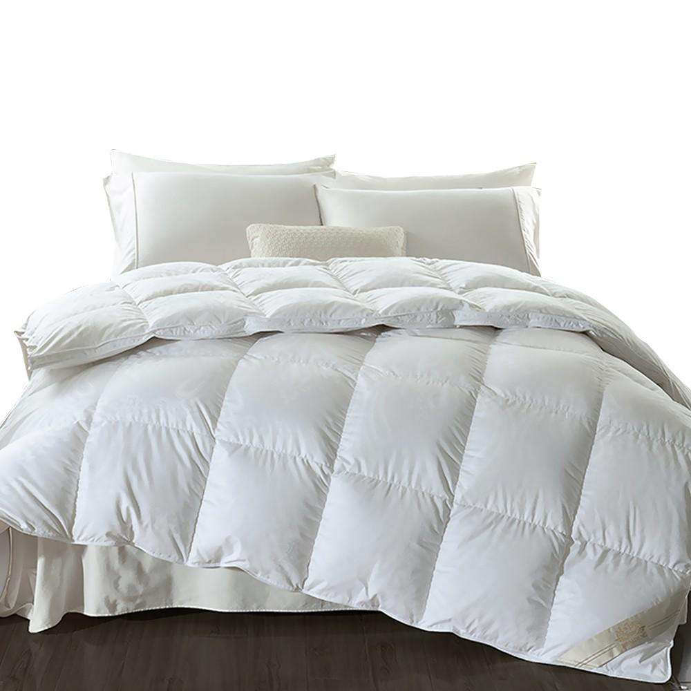 500GSM Duck Down Feather Duvet Quilt All Season Super King Size