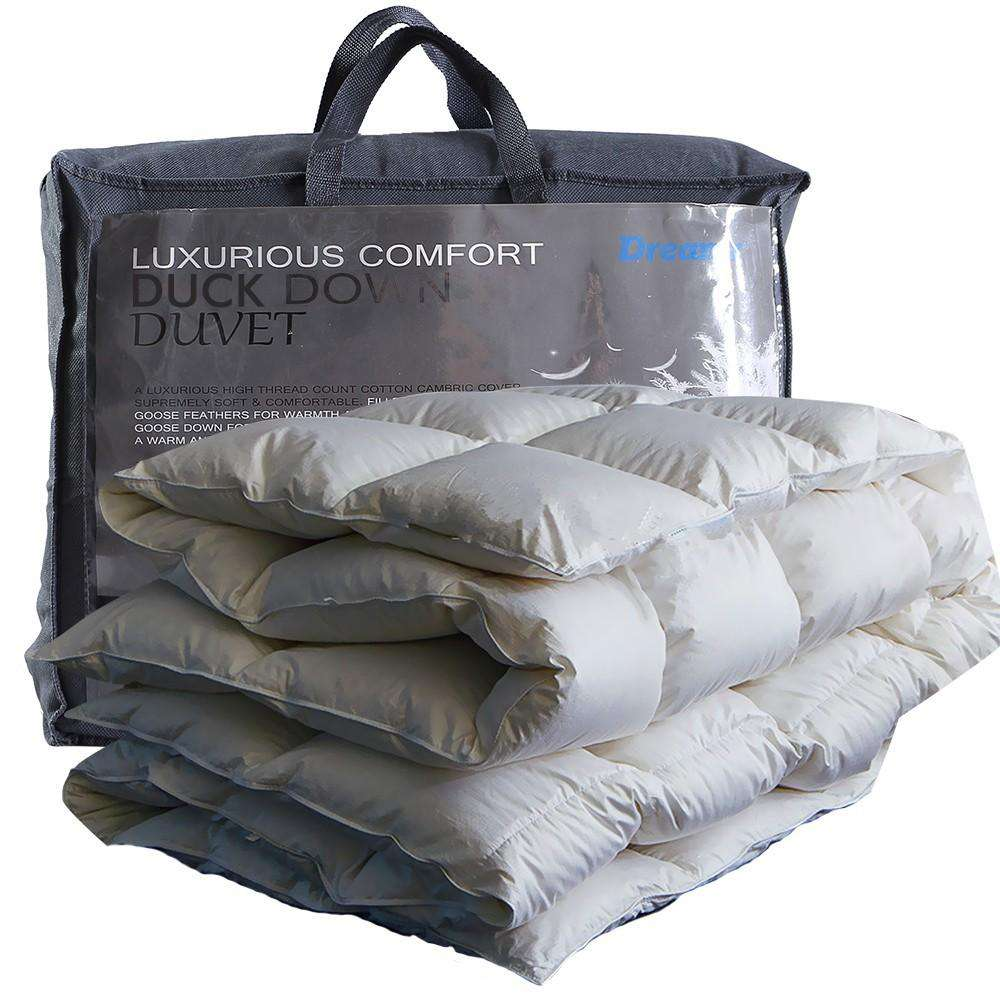 700GSM Duck Down Feather Duvet Quilt All Season King Size