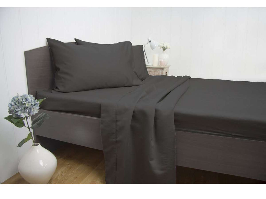 King Size 1900TC Cotton Rich Sheet Set (Charcoal Color)