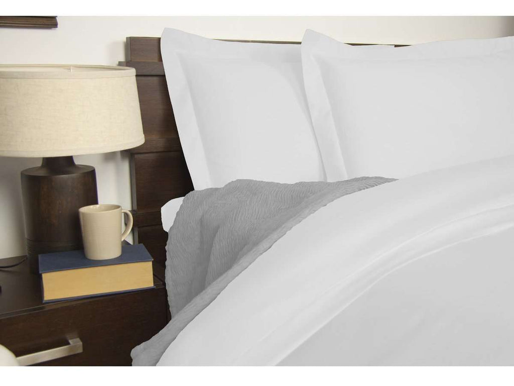 Queen Size 1900TC Cotton Rich Sheet Set (White Color)