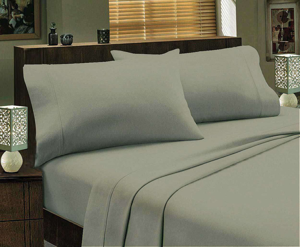 Single size Egyptian Cotton flannelette Sheet Set (Graphite)
