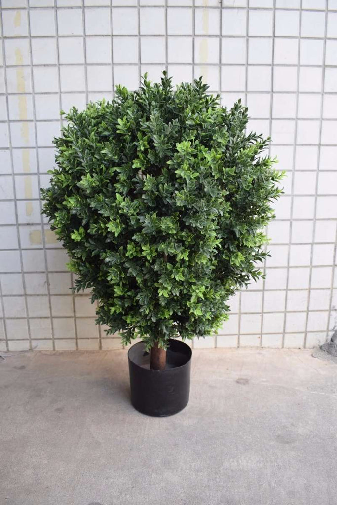 UV Resistant Artificial Topiary Shrub (Hedyotis) 80cm - Desirable Home Living