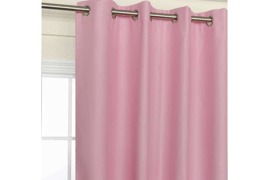 Pink Eyelet Blockout Curtain 140x221cm
