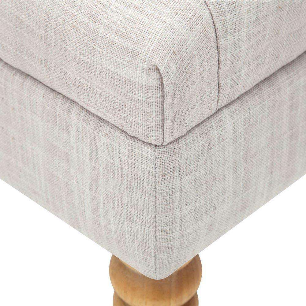 Seat Footstool Bench Stool - Beige - Desirable Home Living