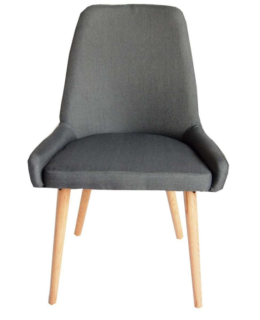 Archer Charcoal Fabric Dining Chair Set of 2